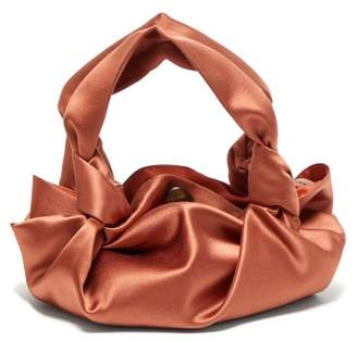 The Row The Ascot Satin Clutch - Womens - Coral