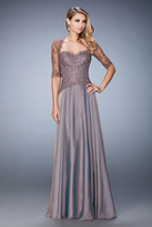 La Femme 21957 Laced Sweetheart A-Line Dress