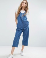 Noisy May Cropped Denim Jumpsuit