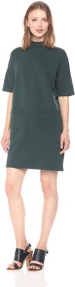 Noisy May Women's Bass Short Sleeve Highneck Dress W. Pockets