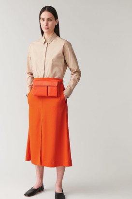 Cos Leather Belt Bag With Flap Pocket