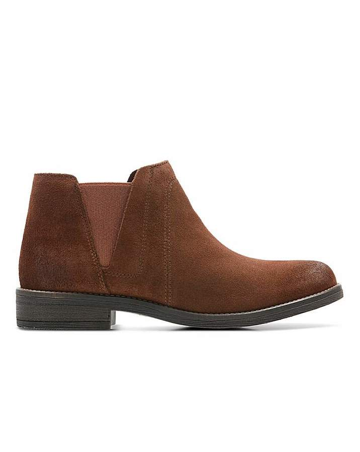 0819cc263b4a0 Clarks Brown Leather Boots For Women - ShopStyle UK