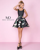 Mac Duggal 30407C Fitted Floral Cocktail Dress