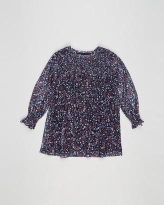 Eve's Sister - Girl's Blue Mini Dresses - Blossom Mesh Dress - Kids - Size 3 YRS at The Iconic