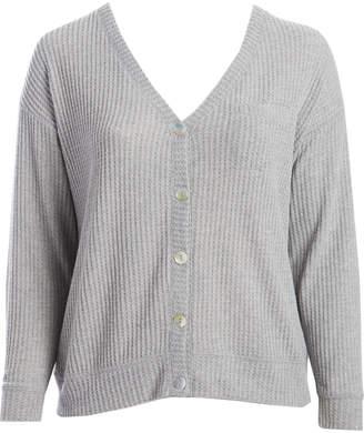 Self Esteem Clothing clothing Women's Cardigans Heather - Heather Gray Drop-Shoulder Button-Up Cardigan - Plus