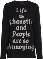 Ashish Crystal embellished slogan top