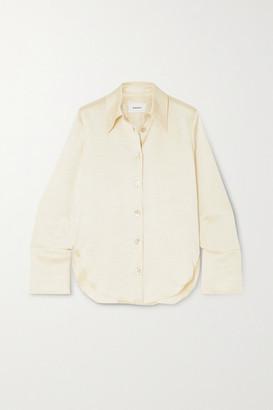 Nanushka Mandine Washed-satin Shirt - Cream