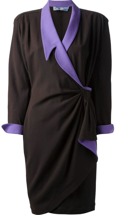 Thierry Mugler Vintage gathered wrap dress