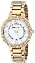 Anne Klein Women's AK/1498MPGB Swarovski Crystal-Accented Watch