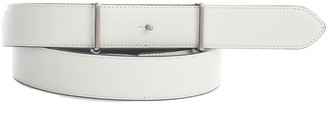 Maison Margiela Calf Leather Solid Color Reversible Belt
