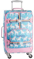 Pottery Barn Kids Mackenzie Aqua Unicorn Parade Spinner Luggage