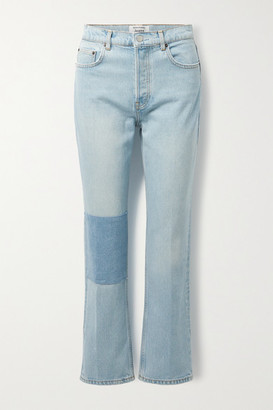 Reformation + Net Sustain Cynthia Patchwork High-rise Straight-leg Jeans - Blue