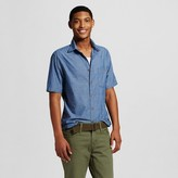 Men's Short Sleeve Woven Blue Chambray - Mossimo Supply Co.
