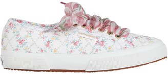 LoveShackFancy Superga x Floral Canvas Platform Sneakers