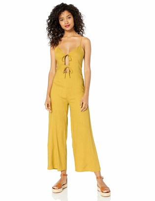 J.o.a. Women's Sleeveless Double Tie Front Wide Leg Casual Jumpsuit