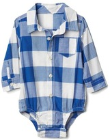 Gap Bold gingham long sleeve bodysuit