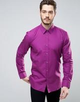 HUGO BOSS HUGO by Elisha Shirt Poplin Slim Fit in Purple