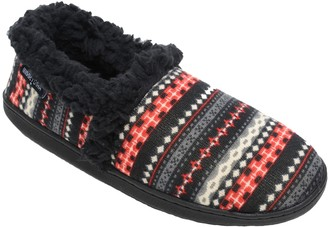Minnetonka Women's Dina A Line Black Knit Slippers
