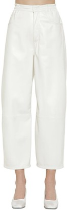 MM6 MAISON MARGIELA Cropped Straight Leather Pants
