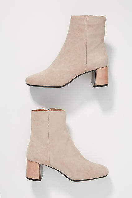 Lola Cruz Lucite-Heeled Booties