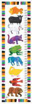 Colorful Friends Growth Chart by Eric Carle (Canvas)
