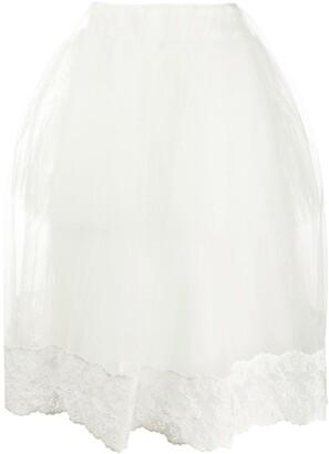 Simone Rocha Lace-Trim Tulle Puff Skirt