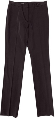 Jil Sander Brown Synthetic Trousers