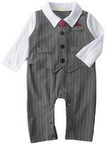 AvaCostume Baby Boys Striped Gentleman Romper Suit, 6M