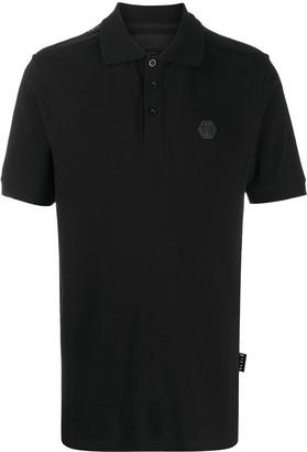 Philipp Plein Institutional logo patch polo shirt