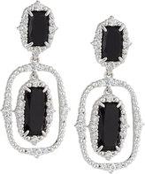 Judith Ripka Sophia Black Onyx Double-Drop Earrings