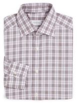 Ermenegildo Zegna Regular-Fit Plaid Cotton Dress Shirt