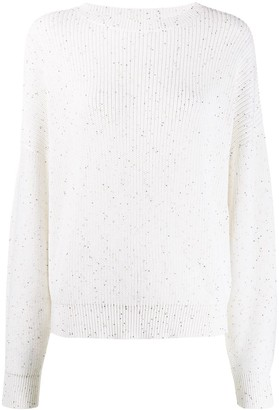 Brunello Cucinelli Oversized Sequin-Embellished Jumper