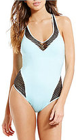 Kenneth Cole New York Beat Of The Stree Plunge T-Back Tummy Toner One-Piece