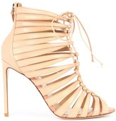 Francesco Russo strappy ankle boots - women - Calf Leather/Leather - 36