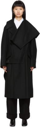 Yohji Yamamoto Black Left Collar Big Coat