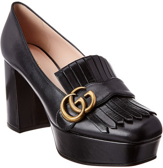 Gucci Gg Fringe Leather Platform Pump