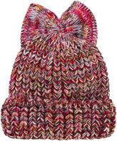Federica Moretti bow detail beanie hat