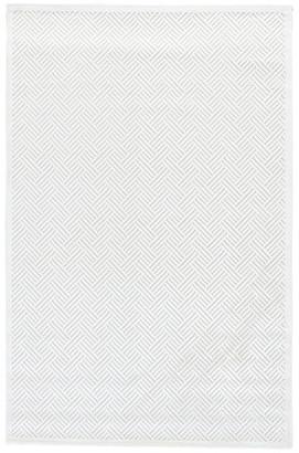 "Jaipur Living Thatch Geometric White Area Rug, 5'x7'6"""
