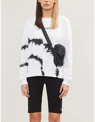 Calvin Klein Brand-print stretch-cotton cycling shorts