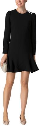 Shoshanna Dara Jet Stretch Crepe Dress
