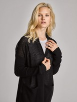 White + Warren Cashmere Curved Hem Cardigan
