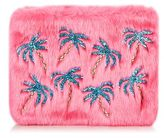 Skinnydip **palm fur clutch bag