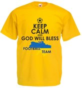 lepni.me N4470 T-shirt male Keep Calm, God will bless the Ukrainian football team