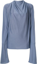 Lemaire ruched long-sleeved blouse