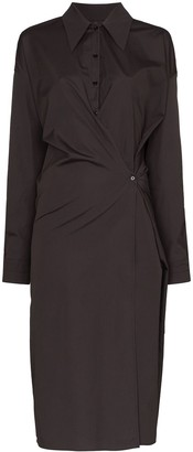 Lemaire Button Front Shirt Dress