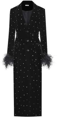 Miu Miu Embellished velvet coat