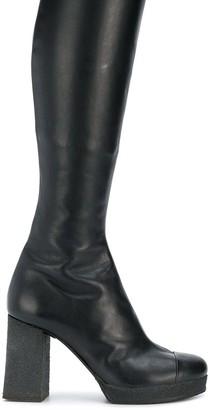 Chalayan Knee-High Heel Boots