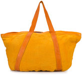 Guidi - double strap holdall - men - Linen/Flax/Leather - One Size