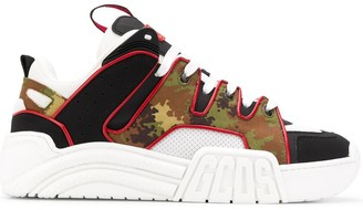GCDS Camouflage Print Chunky Sole Sneakers