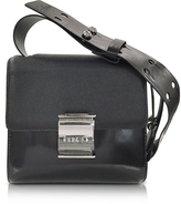 Kenzo Black Embossed Leather Small Shoulder Bag